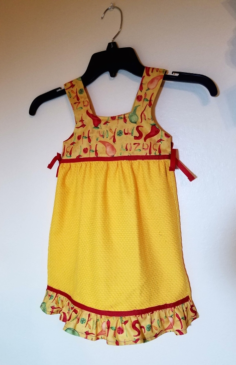 yellow dishtowel dress